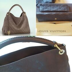 Louis Vuitton Bags For Women Handbag ARTSY MM in Chocolate Brown + Wallet NEW