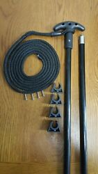 10 Ft. Jointed 2 Pc. Shallow Water Stick Anchor Pin Anchor Pole -10b-2p