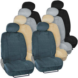 Scottsdale Checkered Thick And Soft Front Car Seat Covers For Auto Suv - 4pc