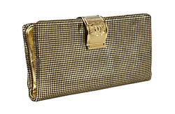 VERY PRETTY CHANEL GOLD FOLD-OVER CLUTCH