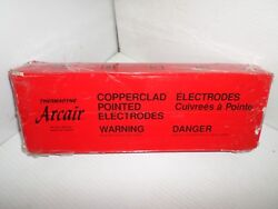 New Box Of 50 Arcair 22-063-003 Round Copperclad Electrodes 3/8 X 1/2