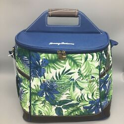 Tommy Bahama Palms Floral Cooler Bag Insulated Tropical Travel Beach Tote Blue