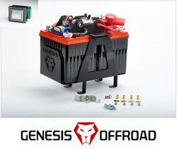 Genesis Offroad Dual Battery Kit 200a Isolator Monitor For 10-20 Toyota 4runner
