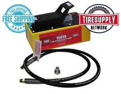 15930c Ame 5 Quart Air Hydraulic Pump With 8and039 Hydraulic Hose And Coupling