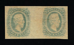 Genuine Confederate Csa Scott 11d Gutter Pair Mint Og Green Die-a Archer And Daly