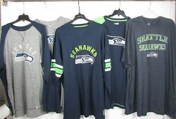 Seattle Seahawks Nfl Men's 2 Mystery Shirts - Multiple Sizes Available