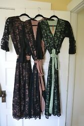 Womenand039s Clothing 10 Piece Whole Lot Lace And Silk Robes Size Small-medium