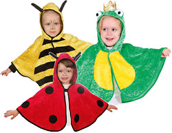 Toddler Boys Girls Mini Beast Bee Frog Ladybird Fancy Dress Costume Outfit Cape