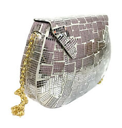 Metal Bag Ethnic Clutches Wallet Vintage Purses Party Bag for WomenGirl Mirror