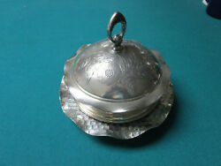 Antique Hartford Covered Silverplate Bowl Domed Butter Dish Rare