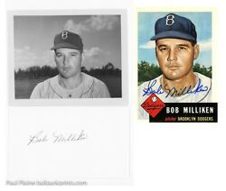 27-1950-55 Yankees Giants Dodgers 4 x 5 Contact Proofs & Autograph index Cards