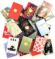 10 Clearance Hard Plastic Crushproof Cigarette Case, Kings, Assorted Styles 3116