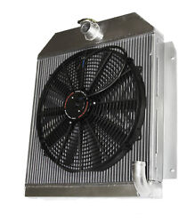 3 Row Performance Radiator+16fan Fit 49-52 Plymouth Chrysler Coupe Sedan 6cyl