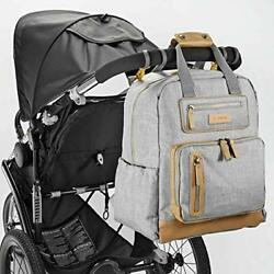 JJ Cole Infant Baby Papago Pack Men's Diaper Bag Backpack Heather Gray Grey