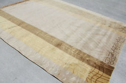 Rs121 Gorgeous Neutral Color Hand Crafted Tibetan Area Rug 8'x10' Made In Nepal