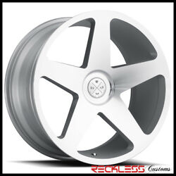 Blaque Diamond 24 Bd15 Silver Concave Wheel Rim Fits Jeep Grand Cherokee