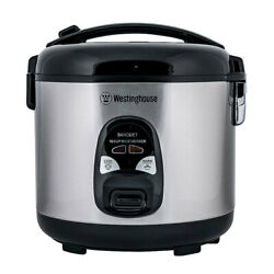 Westinghouse Electric 10 Cup Rice Cooker Stainless Steel W/food Steamer Tray