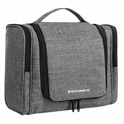 SONGMICS Toiletry bag travel Organiser cosmetic large with 9 Compartments