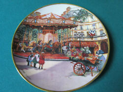 Carousel Enchantment Collector Plate By Franklin Mint 8 By Sandi Lebron [am2b]
