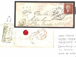 BE23 1857 GB Aberdeen Experimental Duplex*UNION STREET* Scots Local 1d Red Cover