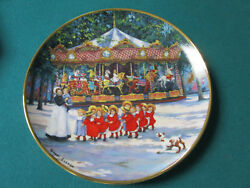 Carousel Holiday Collector Plate By Franklin Mint 8 By Sandi Lebron [am26]