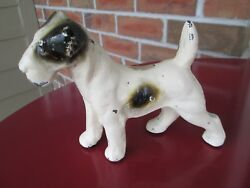 Littco Cast Iron Fox Terrier Doorstop Bookend Rare