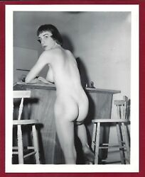 1950's Vintage Original Nude Photo~Perfect Big Firm Breasts Puffy Nipples Pinup
