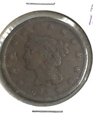 1843 Braided Hair Large Cent-petite Head Small Letters