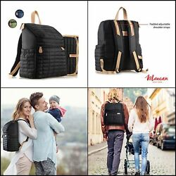 Baby Diaper Backpack For WomenMenwith Matching Changing PadStroller Straps