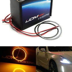 66-smd Amber Z4 Style Led Illuminating Rings For Nissan 350z 370z Side Markers