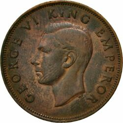 [433067] Coin, New Zealand, George Vi, Penny, 1943, Ef40-45, Bronze, Km13
