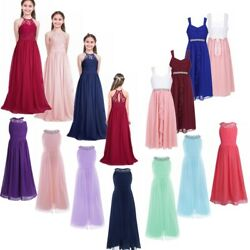 Party Wedding Bridesmaid Formal Dresses Jr Girls Princess Dress Flower For Kids