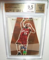 (#350) 2003-04 SP Authentic Limited LeBron James Auto BGS 9.5 10 RC #350 GOLD