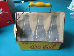 Vintage Coca Cola Wood Carrier Box With Fabric Cover Rare Vintage Repro