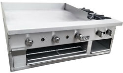 New 48 Counter Combination Griddle And Hot Plate By Ideal. Made In Usa. Nsf And Etl