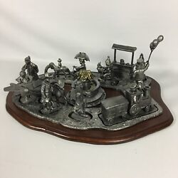 Rare Vintage Michael Ricker Pewter Backyard Circus Parade Complete Certs And Base