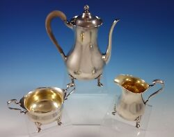 Reed And Barton Sterling Silver Coffee Set 3pc 1265 2747