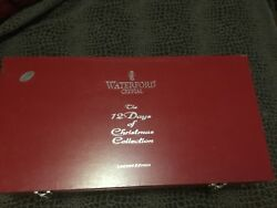 Waterford Complete Set 12 Days Of Christmas Champagne Flutes With Chest