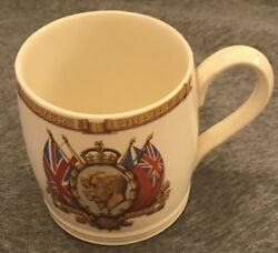 Vintage Porcelain English Silver Jubilee 1910 - 1935 George V And Queen Mary Cup