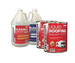 Rv Roof Coating Kit For Pvc Alpha Epdm Old Coatings For Rvs Up To 20 Ft Long