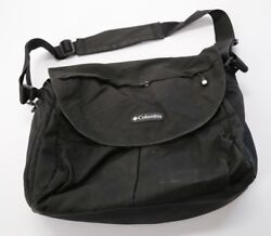 Columbia Outfitter Messenger Diaper Bag Black Adjustable Strap Changing Pad $20.50
