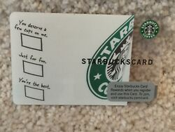 Starbucks 2009 Usa Test Card Indianapolis Just For Fun 6053 Very Rare New