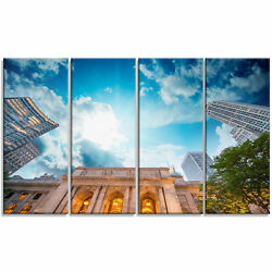 'New York Public Library' 4 Piece Photographic Print on Wrapped Canvas Set