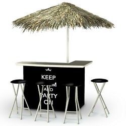 Best of Times Keep Calm and Party On Tiki Bar Set TJI1438
