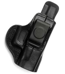 TAGUA IWB AIWB RH Black Leather Concealment Holster for KEL-TEC P-3AT 380 P32