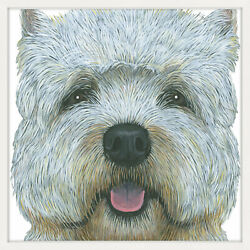 Marmont Hill 'Yorkie 2' Framed Painting Print