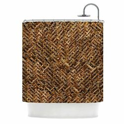 East Urban Home 'Bamboo Weave' Photography Shower Curtain