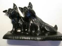 Scottish Terrier Doorstop Cast Iron Scottie Dog Listen  Style Doorstop