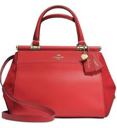 ❤️COACH Selena Gomez Red 24053 Grace Bag In Mixed Leathers In Original Packaging