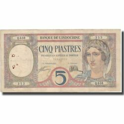 [574638] Banknote French Indo-china 5 Piastres Undated 1926 Km49b
